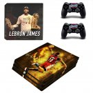 Lebron James decal skin sticker for PS4 Pro console and controllers