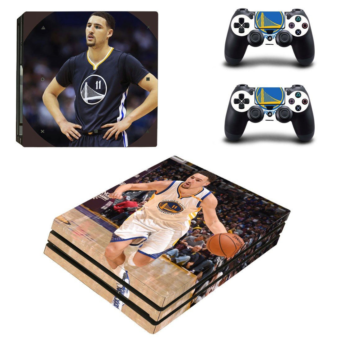 Klay Thompson decal skin sticker for PS4 Pro console and controllers