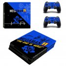 Mega Man 11 decal skin sticker for PS4 Pro console and controllers
