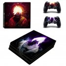 Naruto decal skin sticker for PS4 Pro console and controllers