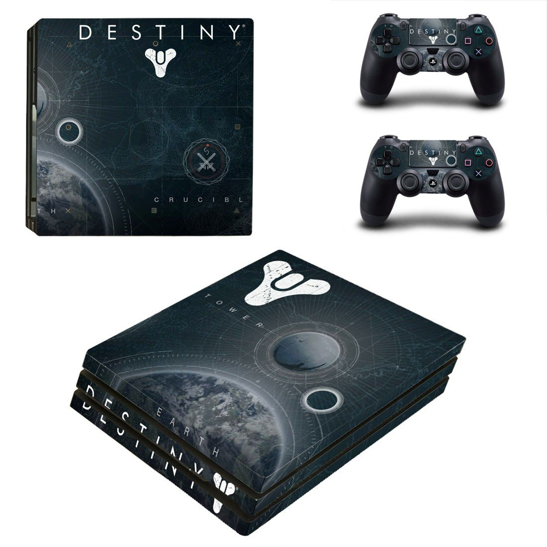 Destiny decal skin sticker for PS4 Pro console and controllers