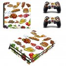 Fast food decal skin sticker for PS4 Pro console and controllers