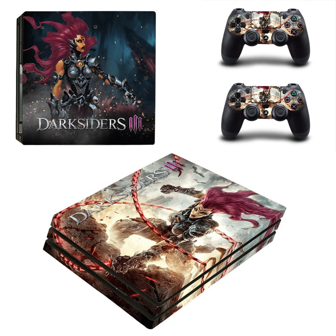 Dark Souls 3 decal skin sticker for PS4 Pro console and controllers