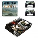 Metal Gear Survive decal skin sticker for PS4 Pro console and controllers