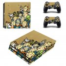 Vault Boy decal skin sticker for PS4 Pro console and controllers