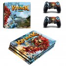 Knack 2 decal skin sticker for PS4 Pro console and controllers