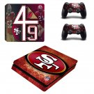 San Fransisco 49ers decal skin sticker for PS4 Slim console and controllers