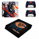 Chicago Bears decal skin sticker for PS4 Slim console and controllers
