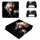 Metal Gear Solid Rising decal skin sticker for PS4 Slim console and controllers