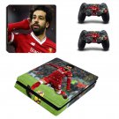 Anfield Mohamed Salah decal skin sticker for PS4 Slim console and controllers