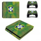 Brazil national FT decal skin sticker for PS4 Slim console and controllers