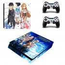 Sword Art Online Hollow Fragment decal skin sticker for PS4 Slim console and controllers