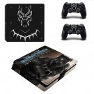 Black Panther decal skin sticker for PS4 Slim console and controllers