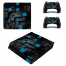 Black 3D decal skin sticker for PS4 Slim console and controllers