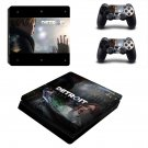 Detroit become human decal skin sticker for PS4 Slim console and controllers