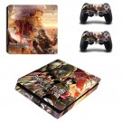 Attack on Titan 2 decal skin sticker for PS4 Slim console and controllers