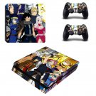 Fairy Tail decal skin sticker for PS4 Slim console and controllers