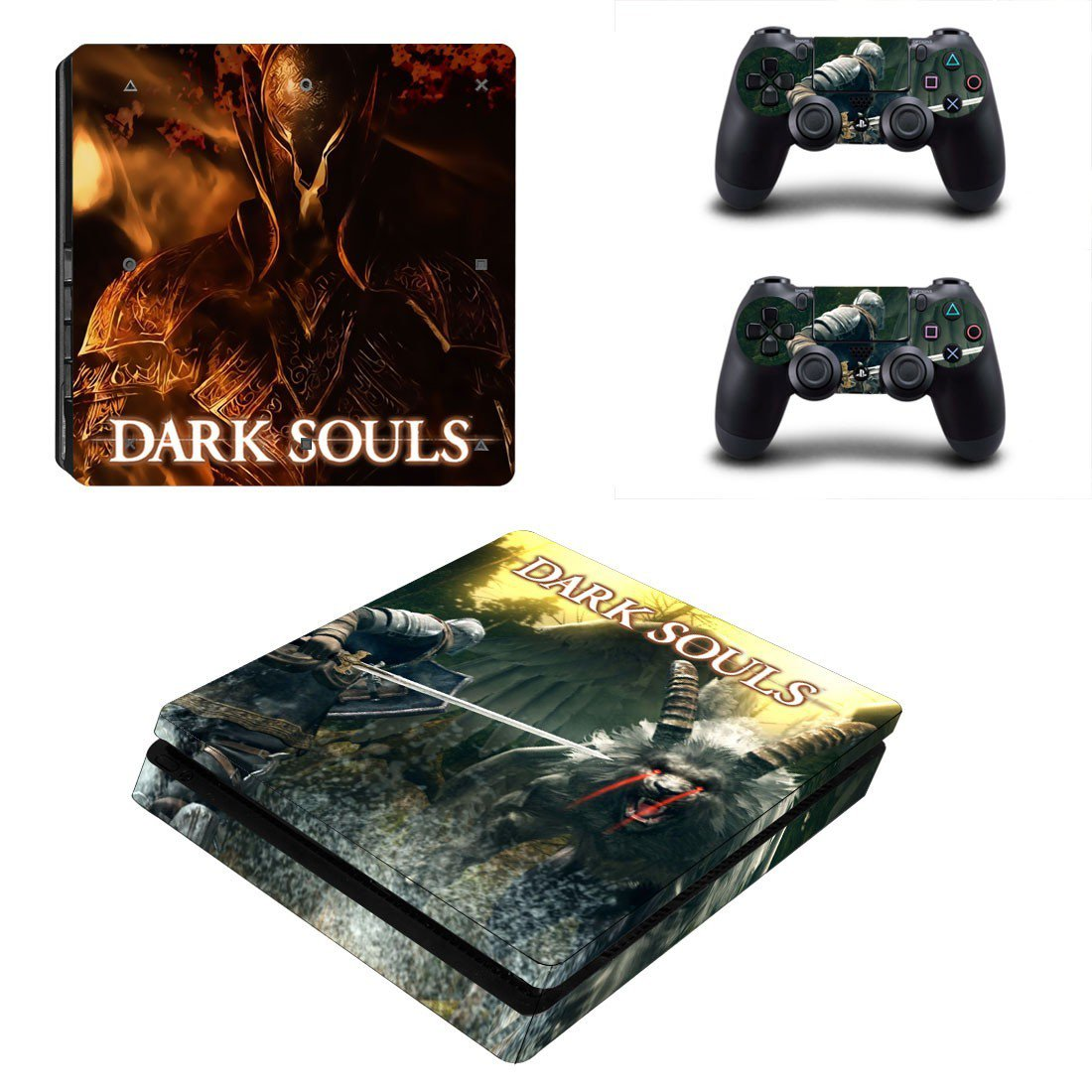 Dark Souls decal skin sticker for PS4 Slim console and controllers