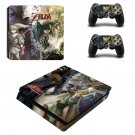 The Legend of Zelda Twilight Princess decal skin sticker for PS4 Slim console and controllers