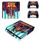 FC Barcelona Messi decal skin sticker for PS4 Slim console and controllers