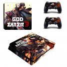 God Eater 3 decal skin sticker for PS4 Slim console and controllers