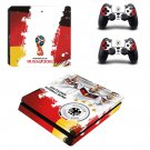 2018 FIFA World Cup Deutscher decal skin sticker for PS4 Slim console and controllers