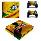2018 FIFA World Cup Brazil decal skin sticker for PS4 Slim console and controllers