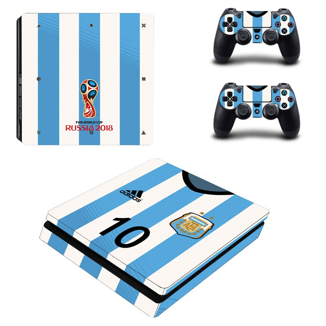 Argentine Football Association decal skin sticker for PS4 Slim console and controllers