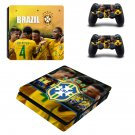 Brazilian Football Confederation decal skin sticker for PS4 Slim console and controllers