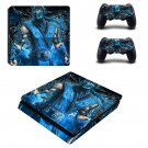 Mortal Kombat sub zero decal skin sticker for PS4 Slim console and controllers