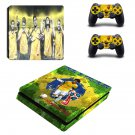 Neymar decal skin sticker for PS4 Slim console and controllers