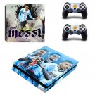 2018 FIFA World Cup Messi decal skin sticker for PS4 Slim console and controllers
