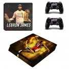 Lebron James decal skin sticker for PS4 Slim console and controllers
