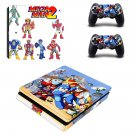 Mega Man 2 decal skin sticker for PS4 Slim console and controllers