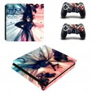 Sexy wallpaper decal skin sticker for PS4 Slim console and controllers