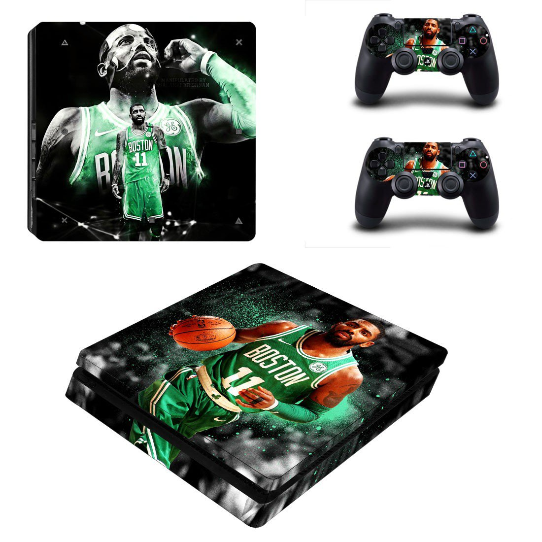 Kyrie Irving decal skin sticker for PS4 Slim console and controllers