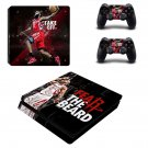 James Harden decal skin sticker for PS4 Slim console and controllers