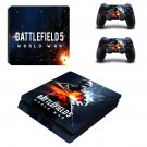 Battlefield 5 world war decal skin sticker for PS4 Slim console and controllers