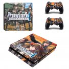 Valkyria Chronicles 4 decal skin sticker for PS4 Slim console and controllers