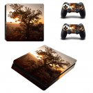 Tree Wallpaper decal skin sticker for PS4 Slim console and controllers