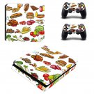 Fast food decal skin sticker for PS4 Slim console and controllers