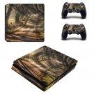 Dark Hedges decal skin sticker for PS4 Slim console and controllers