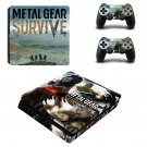 Metal Gear Survive decal skin sticker for PS4 Slim console and controllers