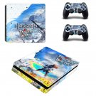 Horizon Zero Dawn The Frozen Wilds decal skin sticker for PS4 Slim console and controllers