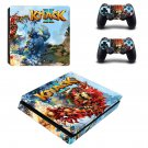 Knack 2 decal skin sticker for PS4 Slim console and controllers