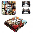 Grand Theft Auto 5 decal skin sticker for PS4 Slim console and controllers