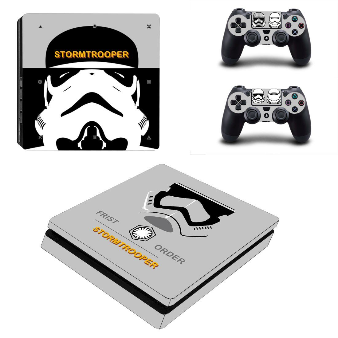 Star Wars Stormtrooper decal skin sticker for PS4 Slim console and controllers