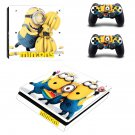 Minions decal skin sticker for PS4 Slim console and controllers