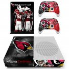 Arizona Cardinals decal skin sticker for Xbox One S console and controllers