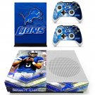 Deteoit lions decal skin sticker for Xbox One S console and controllers